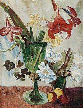 16. Isaac Grünewald, Still life with amaryllis and apples.
