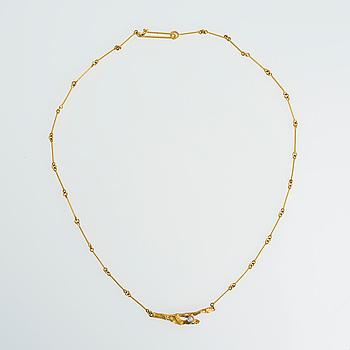"LAPPONIA, HALSSMYCKE, ""diamantknopp"", Björn Weckström, Lapponia 1983. 18K guld, briljantslipad diamant."