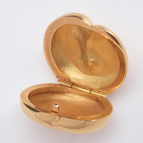 Olle ohlsson, an 18k gold box 'minimalen', stockholm 1978, marked edition 9/10.