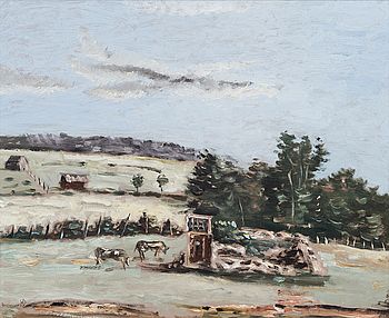 HELGE DAHLMAN, A VIEW FROM THE COUNTRYSIDE.