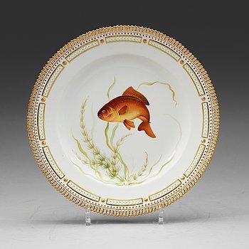 414. A set of six Royal Copenhagen 'Fauna Danica' dishes, Denmark, 20th Century.