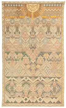 478. Anna Ankarcrona, A TAPESTRY. Tapestry weave. 251 x 148,5 cm. Signed and dated LICIUM 19. a crowned AA -12 BC. KW. FE.