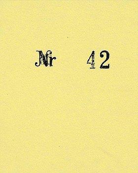 """18. DAWID (BJÖRN DAWIDSSON), """"#B 42"""", 2010."""