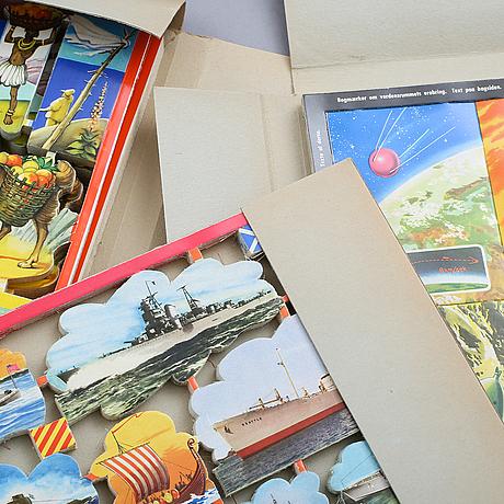 Samling bokmÄrken, tio mappar med obegagnade bokmärken.