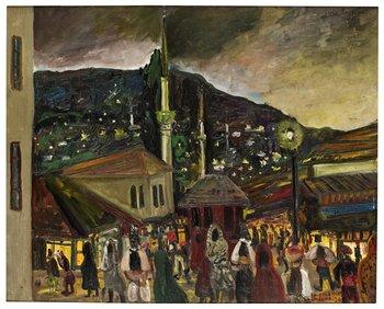 """37. Sven X:et Erixson, """"Torg i Sarajevo""""."""