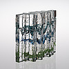 Helena tynell, glasskulptur. skog. sign. helena tynell riihimäen lasi, 1900 talets senare hälft