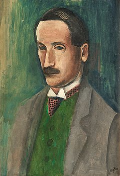 HENRI HAYDEN, signerad Hayden. Troligen utförd 1912-13. Duk.