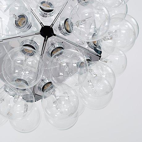 Achille castiglioni, a 'taraxacum 88 s1' ceiling lamp, flos, italy.