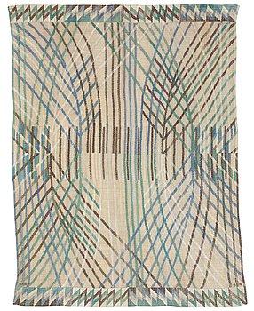 """476. Barbro Nilsson, DRAPE. """"Kärvar"""". Tapestry weave. 183 x 141 cm. Signed AB MMF BN."""