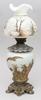 Bordsfotogenlampa. glas, metall, nyrokoko, sent 1800-tal.