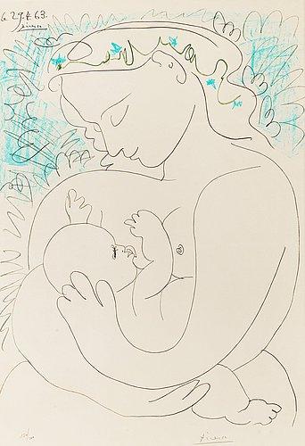 """Pablo picasso after, """"maternité""""."""