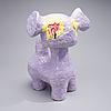 Jasmin anoschkin, keramikskulptur. lila koala