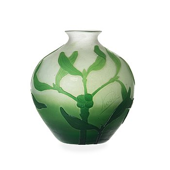 61. Karl Lindeberg, an Art Nouveau cameo glass vase, Kosta, Sweden 1910's.