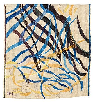 469. Marin Hemmingsson, A TEXTILE. Tapestry weave. 59,5 x 55 cm. Signed MH.