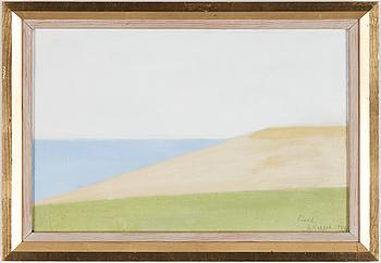 AXEL KARGEL, olja på duk fäst på pannå, signerad och daterad Öland 1956.
