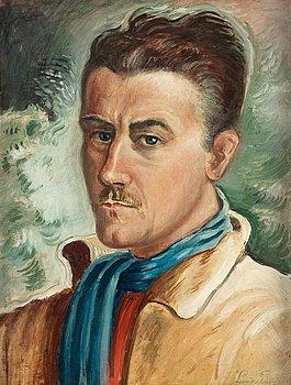 """8. Leander Engström, """"Självporträtt"""" (Selfportrait)."""