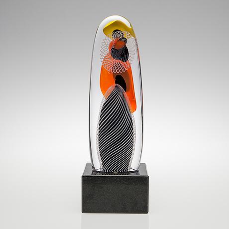 Ritva liisa pohjalainen, glasskulptur. sign. andiago, ritva liisa pohjalainen 2011