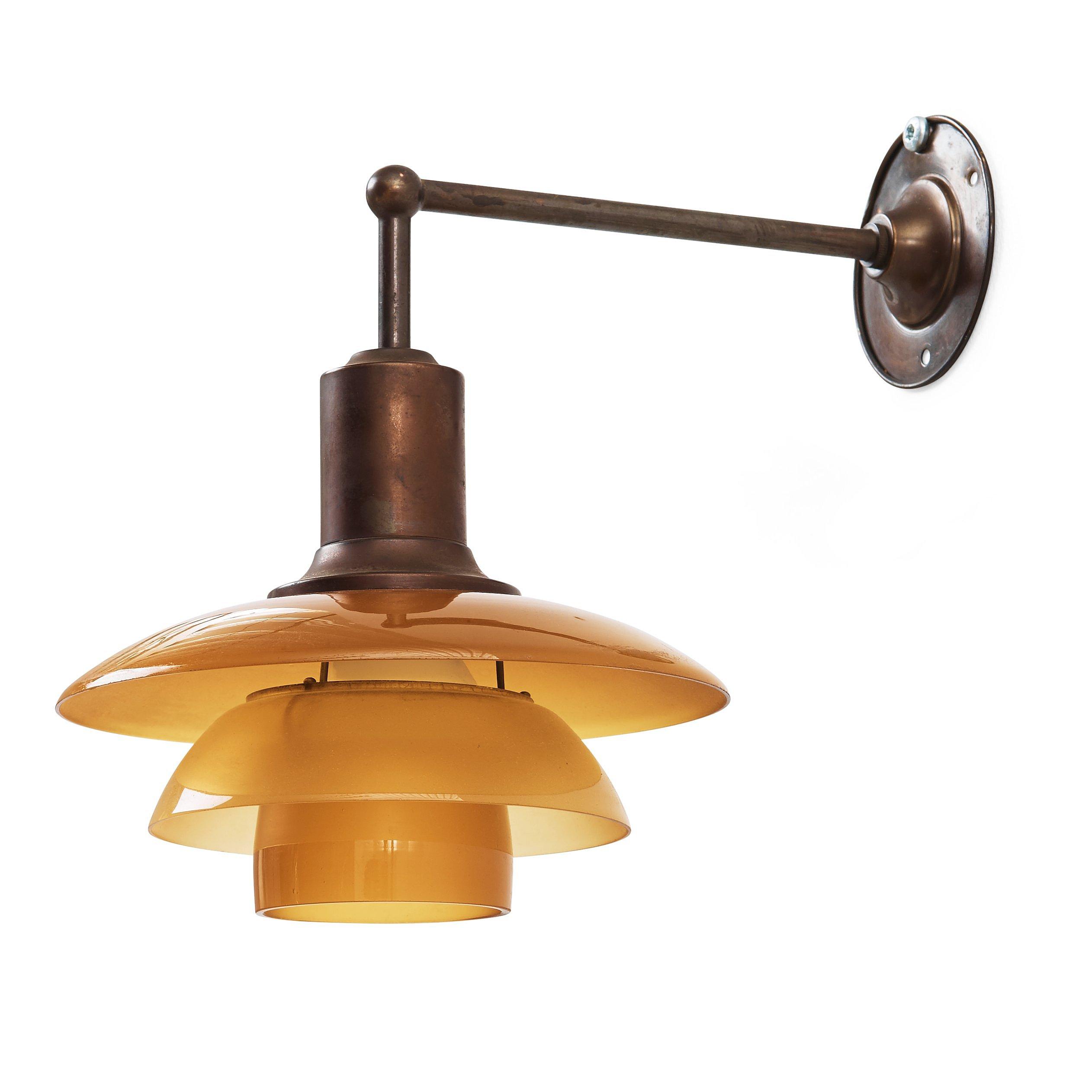 Poul henningsen a ph 22 wall lamp with amber coloured glass poul henningsen a ph 22 wall lamp with amber coloured glass shades louis poulsen denmark 1930s bukowskis aloadofball Gallery
