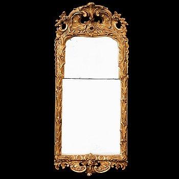 569. ROKOKO, A Swedish Rococo 18th century mirror.