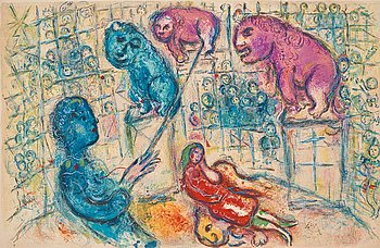 """193. Marc Chagall, Ur: """"Le cirque"""" (double page)."""