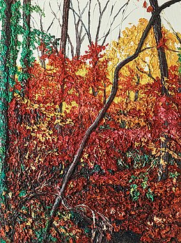 """219. Robert Terry, """"Red Forest Interior""""."""