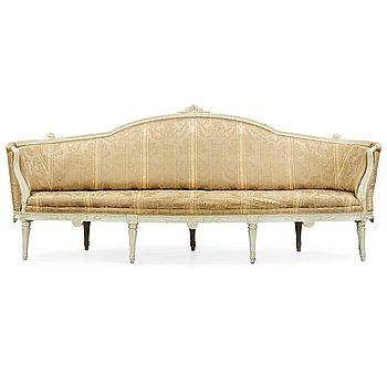 514. A Gustavian late 18th century sofa by Höglander, master 1777.