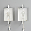 Ben af schulten, wall lights, a pair. model bs 912. artek. designed in 1976.