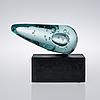 """Heikki viinikainen, art glass, """"komeetta"""" (the comet), 2014."""