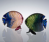 Kerttu nurminen, a set of two glass sculptures. fish. sign. k. nurminen, nuutajärvi. early 1990s