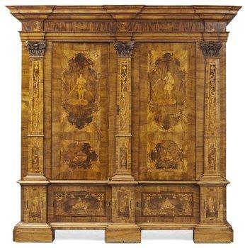 773. A German 18th century cupboard.