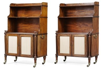 779. A pair of Regency Waterfall bookcases.