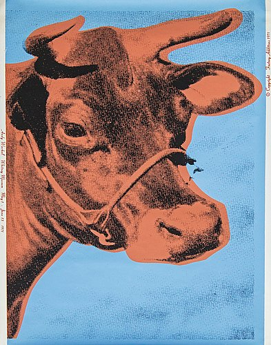 "Andy warhol, ""cow""."