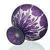 Karl lindeberg, an art nouveau cameo glass vase, kosta.