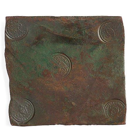 PlÅtmynt, 1 daler silvermynt, drottning kristina, sverige 1652.