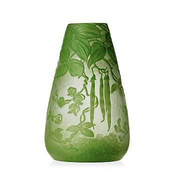 51. Gunnar Wennerberg, an Art Nouveau cameo glass vase, Kosta.