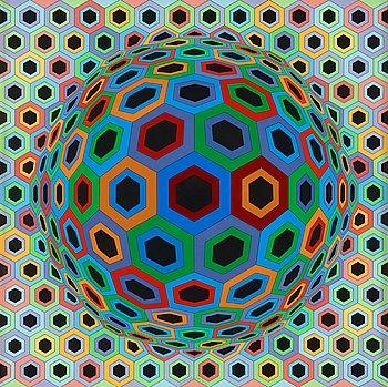 """168. Victor Vasarely, """"Sin Hat 33""""."""