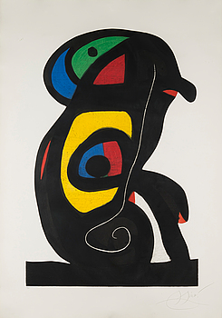 "JOAN MIRÓ, ""LA BRAHMANE, 1978""."