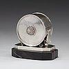 An atelier borgila silver table clock, stockholm 1939.