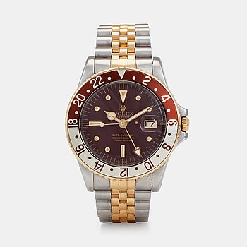 """963. ROLEX, Oyster Perpetual, GMT-Master, Chronometer, s.c. """"Nipple dial"""", wristwatch, 39 mm,"""