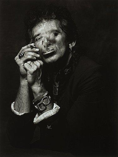 """Albert watson, """"keith richards, new york city, 1988""""."""