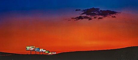 "Albert watson, ""15 north, exit 25, las vegas, 2001""."