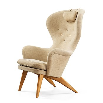 434. Carl Gustaf Hiort af Ornäs, an easy chair, Hiort Tuote Vamistaja Puunveiosto, Helsinki 1950's.