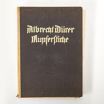 ALBRECHT DÜRER, mapp med avbildningar av hans kopparstick, utgiven av Jaro Springer, München, 1920.