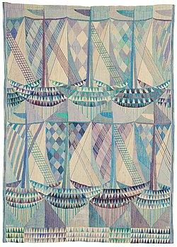 """479. Marianne Richter, TAPESTRY. """"Skutor, blå"""". Tapestry variant. 211,5 x 151 cm. Signed AB MMF MR."""