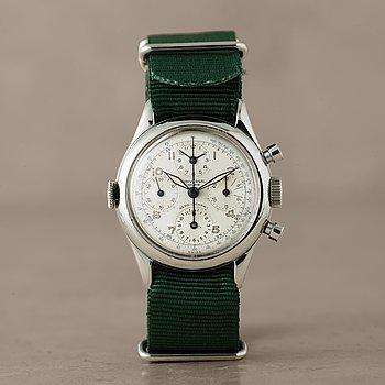 115. UNIVERSAL, Genève, Aero-Compax, chronograph, wristwatch, 35 mm,