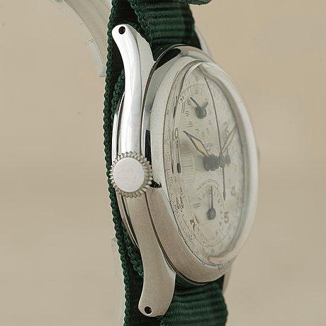 Universal, genève, aero-compax, chronograph, wristwatch, 35 mm,