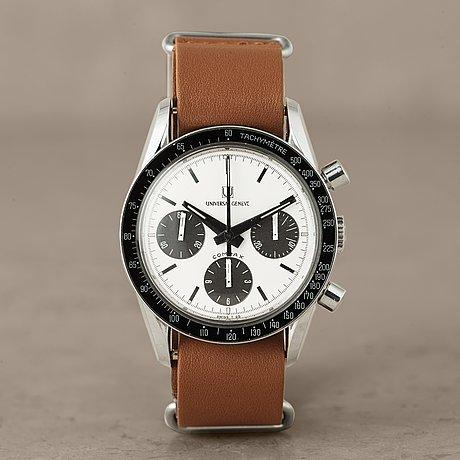 "Universal, geneve, compax, ""tachymètre"", ""nina rindt"", chronograph, wristwatch, 36 mm,"