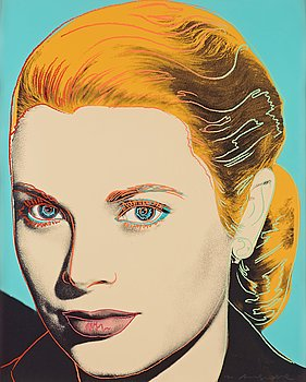 "30. ANDY WARHOL, ""Grace Kelly""."