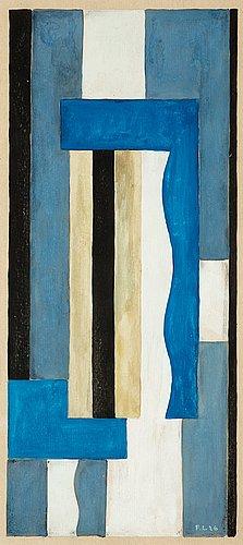 Fernand léger, composition abstraite (projet de tapisserie).