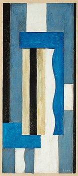 66. Fernand Léger, Composition abstraite (Projet de tapisserie).